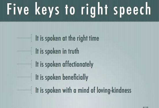 Right Speech